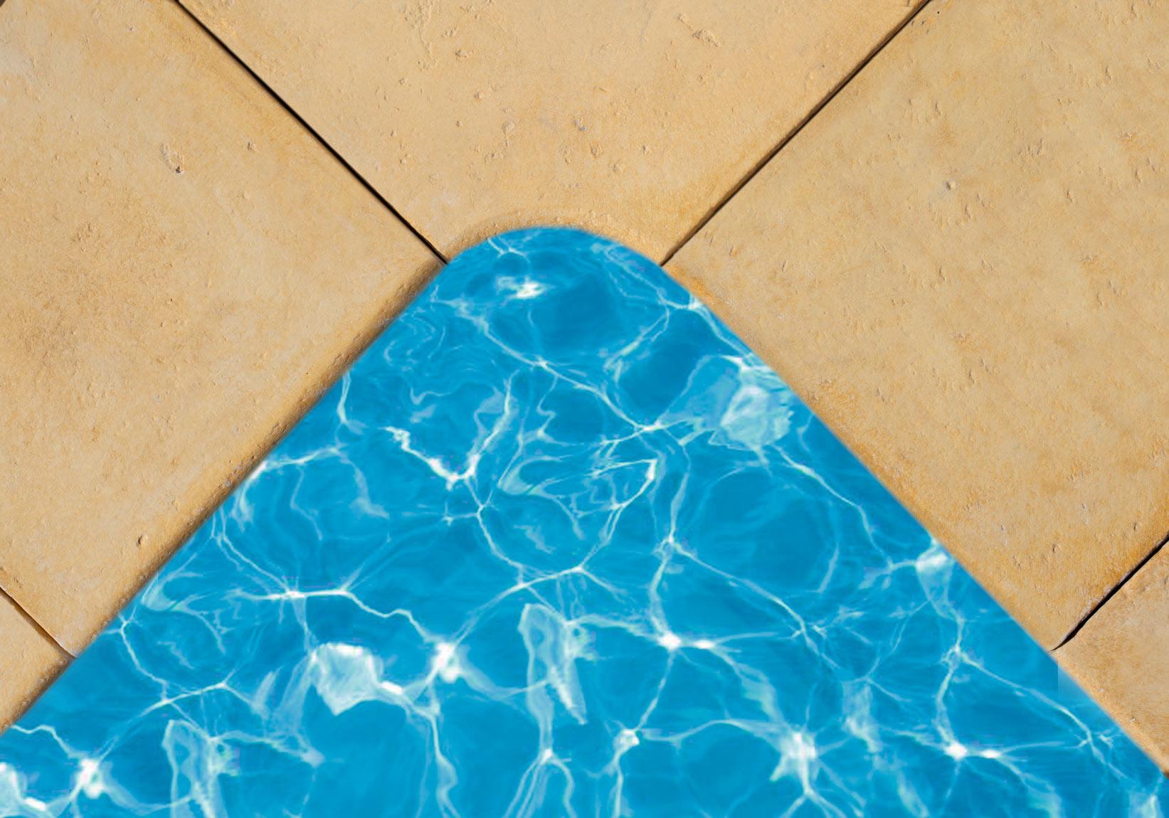 Kamenný program, bazénový lem, melír pískovec