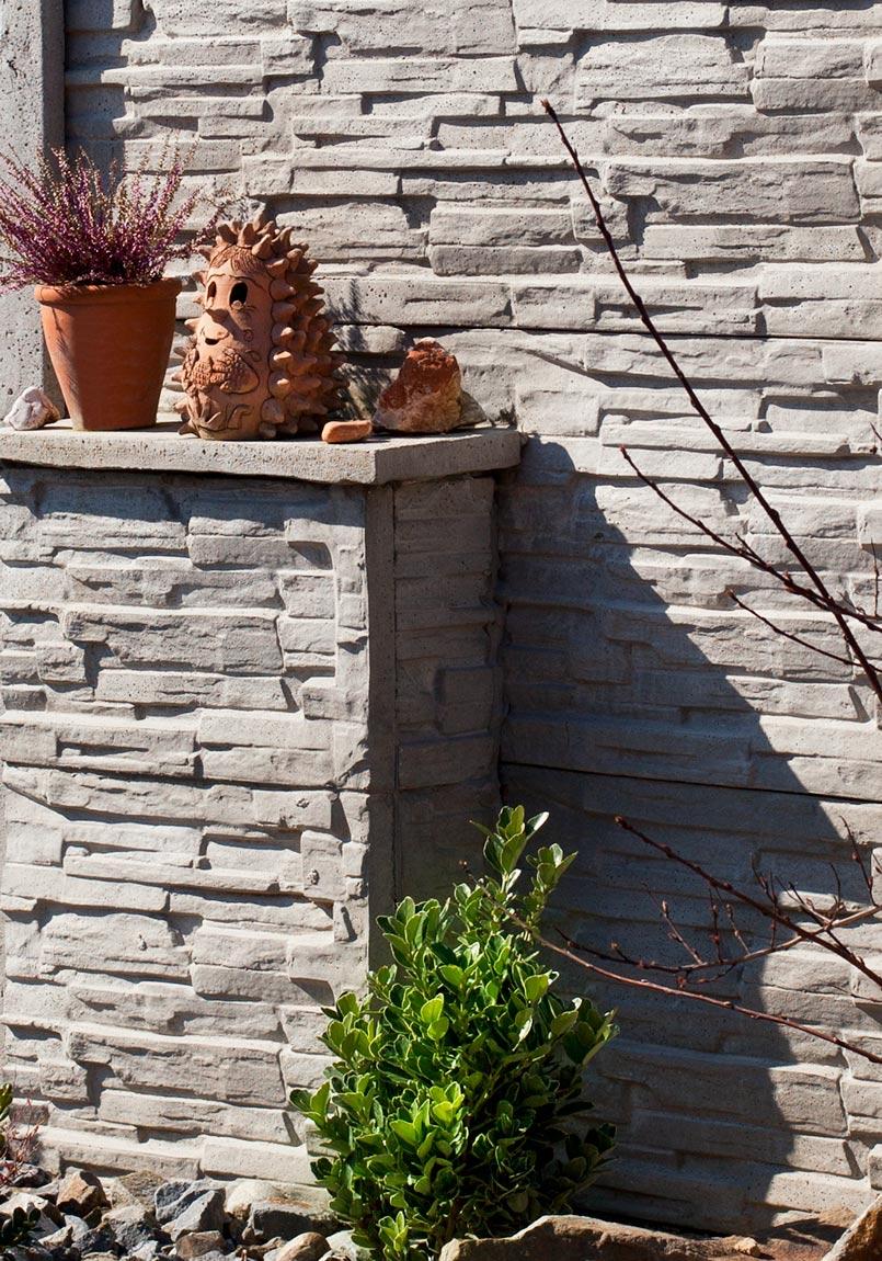 Kamenný plot skládaný, přírodní