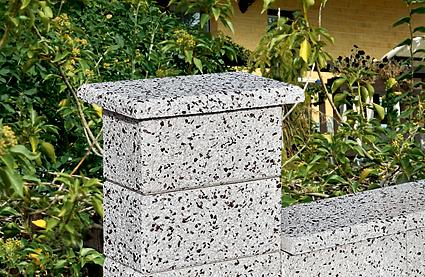 Stříška pilířová rovná 46x26x4 cm, Verona Bianco