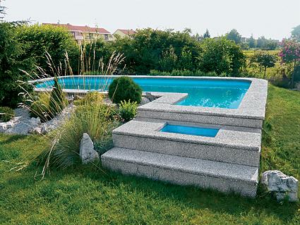 Bazénový lem typ L, Rimini