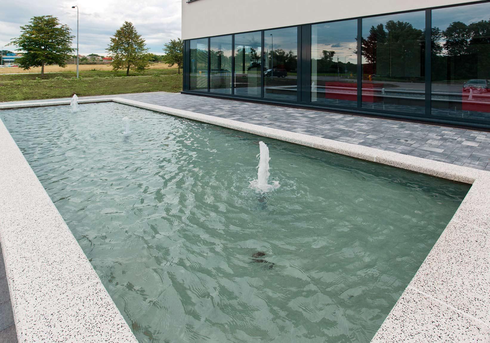 Bazénový lem typ L, Verona Bianco