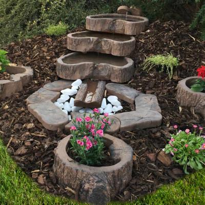 Dřevený program - kaskádové kameny, odvodňovací žlab, Trávníková přidlažba, Květináče