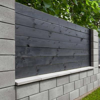 Hladká plotová tvárnice, přírodní