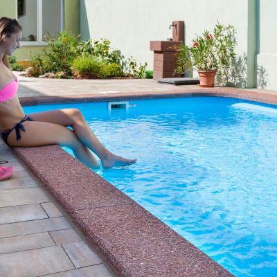 Bazénový lem typ L, Marrone