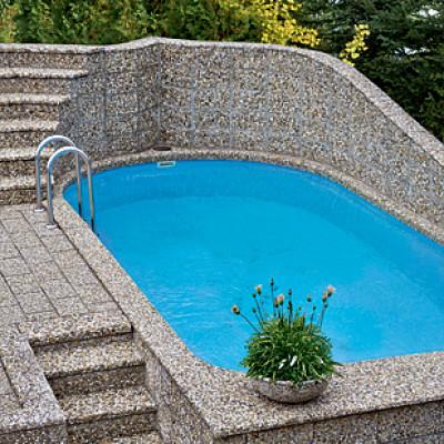 Bazénový lem typ L, oblázek 4-8 mm