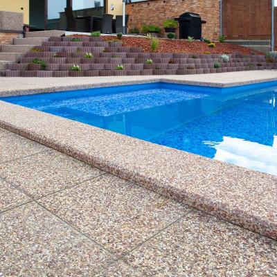 Vymývaná dlažba 40 x 40, atypický povrch Siena/Marrone