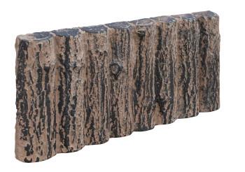 Obrubník palisádový - půlkulatý